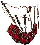 New Great Highland Bagpipe / Dudelsack, Palisander, volle Größe, silberfarbene Zierbeschläge