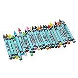 MagiDeal 24 Farben Wachsmaler Wachsmalstifte Wachsmalkreiden Crayon Set Kid Kunsthandwerk