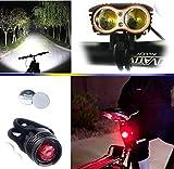 E-FUN Fahrradbeleuchtung,Fahrradlampe Cree XM-L2 LED Fahrradlicht, (4 Licht-Modi, 2 LED) mit 4x...