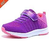 Hallenschuhe Kinder Sneaker Jungen Mädchen Laufschuhe Outdoor Sport Schuhe für Unisex-Kinder,Pink,28=17.5cm interne länge