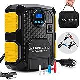 Kompressor mit Tasche, Tragbar Auto Luftpumpe mit LED-Licht und Digital-Manometer,10 Bar/150 PSI, 3...