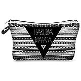 Hakuna Matata Aztec Kosmetiktasche Federmappe Mäppchen Tüte Beutel Zipper Kulturbeutel Make Up Bag...