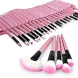 EFK Schmink-Pinselset 32 teilig Make-up Brush Kosmetik Pinsel Lidschattenpinsel Rougepinsel Set mit Etui(rosa)