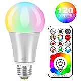 iLC LED Farbige Leuchtmittel RGB+Weiß Lampe Edison Dimmbare Farbige Leuchtmitte Farbwechsel Lampen...