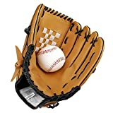 Baseball Gloves Baseball Gloves Adult/Juvenile Wild Baseball Gloves Softball Gloves (L, braun)