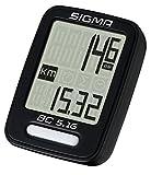 Sigma Sport Fahrrad Computer BC 5.16, 5 Funktionen, Geschwindigkeit, kabelgebundener Fahrradtacho,...