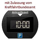 Digitale Parkscheibe elektronisch mit Zulassung (schwarz)