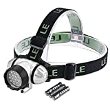 LE Superheller LED Stirnlampe, LED Kopflampe, 18 Weiße LED und 2 Rote LED, 4 Helligkeiten zu...