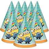 Minions – 8 Partyhüte / Partyhütchen – Ich einfach unverbesserlich - Geburtstag & Party