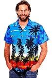 Funky Hawaiihemd, Beach, Blau, XL