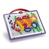 Quercetti 0922 - Mosaik-Steckspiel FantaColor Portable Small, 150 Stecker 10mm
