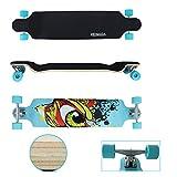 VINGO 41' Skate Board 104cm Street Cruiser ABEC9 Freeride Longboard 9-Lagen-Ahornholz High Speed...