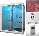 Home Deluxe Design XL Duschtempel, inkl. Dampfdusche