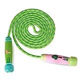 Reastar Springseile Kinder Verstellbare Sport springen Seil mit Cartoon Holzgriff und Baumwollseil...