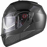 Black Optimus SV Motorrad Roller Klapphelm XXL Gloss Black