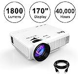 DR.Q 1800 Lumens Beamer, 4' Mini LCD Projektor mit 170' Display, 40000 Stunden, 1080P...