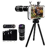 iPhone Handy Kamera objektiv Lens Set - Evershop 10X Manuelle Fokus Aluminium Teleobjektiv für...