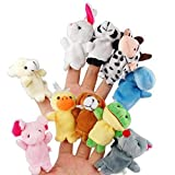 Tinksky Cartoon Fingerpuppen weiches Samt-Puppen-Small Props Toys