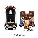 Tchibo SAECO Cafissimo TUTTOCAFFÈ Rosso inkl. 90 Kapseln – Kaffeemaschine (für Kaffee, Espresso,...