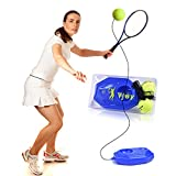 VPOWER Tennis Ball Trainer, mit einem Seil self-study Tennis Rebound-Baseboard + 2-Ball earable...