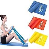 Potok Fitnessbänder 3er-Set 120 x 15 cm für Fitness, Reha, Gymnastik und Physiotherapie | Leicht |...