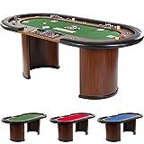 Maxstore Pokertisch Royal Flush, 213 x 106 x75 cm, Farbwahl, Gewicht 58kg, 9 Getränkehalter,...