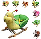 Clamaro Schaukeltier 'Little Swing' inkl. Rollfunktion, Sicherheitsgurt und Rückenlehne, Schaukelspielzeug aus weichem Plüsch - Elefant