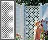 Rankgitter, 'Longlife' weiß, 180 x 60cm aus Kunststoff - Sichtschutz, Sichtschutz Elemente, Sichtschutzwand, Windschutz