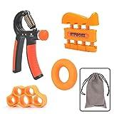 ATPWONZ Ergonomischer Hand- & Unterarmtrainer, einstellbar 10-40kg, 4er Handtrainer set,...