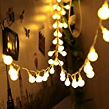 Lichterkette, infinitoo 10 Meter 100 LED Glühbirne Lichterkette Warmweiß, Wünderschöne-Deko für...