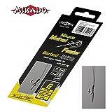 Mikado 8 x METHOD FEEDER 702' Haken Karpfen Rig mit Haar und geflochtener Schnur in den Größen 4...