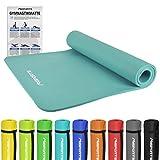 Gymnastikmatte Premium | inkl. Übungsposter | Hautfreundliche - Phthalatfreie Fitnessmatte - Cyan -...