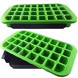 XXL Eiswürfelform Eiswürfelbereiter stapelbar grün 32 Jumbo Eiswürfel Silikon 800ml