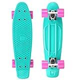 STAR-SKATEBOARDS® Original Vintage Retro Cruiser Skateboard für Kinder und Erwachsene auch...