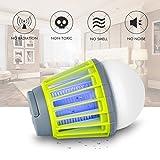 Insektenvernichter Elektrisch NuoYo LED Mückenfalle Indoor Insektenfalle Mit Vakuum Ventilator Zum Fangen von Kleinen Insekten Vernichter 60 m² UV-Licht 3w