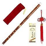 Plug & Play Traditionelle Handgemachte Chinesische Musikinstrument Bambus Flöte / dizi an D Tonart