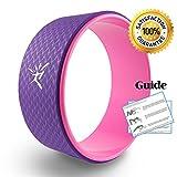 Yoga Wheel Yoga Rad mit Anleitung zur Verbesserung der Flexibilität bei Yogaübungen belastbar bis...