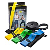 Powerbands Erwachsene Set Max Gymnastikband, Bunt, One Size