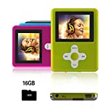 Btopllc MP3-Player,MP4 Player 16GB Karte,MP3 tragbarer Musik-Player,Video Player USB,MP3/MP4...