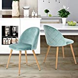 coavas Dining Stühle Soft Sitz und Rücken Samt Wohnzimmer Stühle mit Holz Stil Stabile Metall...