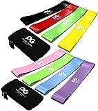 Fitnessbänder Widerstandsbänder, Set mit 4 Trainingsbändern für Workout und Physiotherapie,...