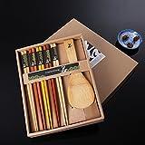 5 Essstäbchen +1 Löffel Set Japanische Natur Chopsticks stäbchen aus umweltfreundlichem hölzernen in edler Schatulle Geschenkbox