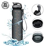 Trinkflasche,CAMTOA 1000ML Wasserflasche Sportflasche - BPA Frei, Beste Sporttrinkflasche...