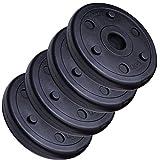 ScSPORTS 5 kg Hantelscheiben-Set Kunststoff 4 x 1,25 kg Gewichte 30/31 mm Bohrung