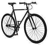 Critical Cycles Harper Fixed Gear Urban Commuter Single Speed Bike, Matte Black, 53cm
