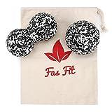 Faszienball Duo Set: Einzel- und Duoball + Baumwolltasche + Farbiges, 16seitiges Übungsheft und...