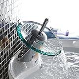simwood  poliert chrom Waschbecken Wasserhahn Wasserfall Küche kupfer Glas Mixer Chrome Finish...