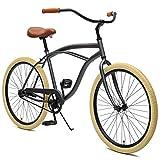 Critical Cycles Herren Chatham Men's Single Speed, Graphite und Beige Beach Cruiser, Graphite and...