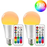 iLC LED E27 Farbwechsel Lampe, RGB LED Birne, 10W Dimmbar Warmweiß (2700K)LED...