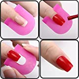 G2PLUS 26 Pieces Nail Polish Stencils with 10 Sizes Nail Art Beauty Auxiliary Tools by G2Plus